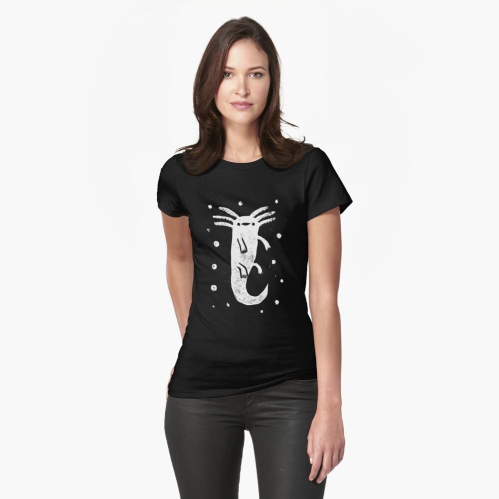 Axolotl Print Fitted T-Shirt