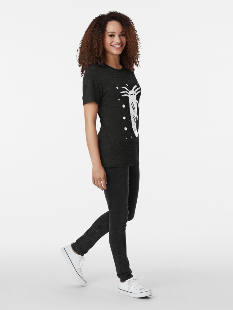 Alternate view of Axolotl Print Tri-blend T-Shirt