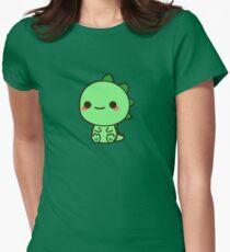 Kawaii Dinosaur Womens Fitted T-Shirt