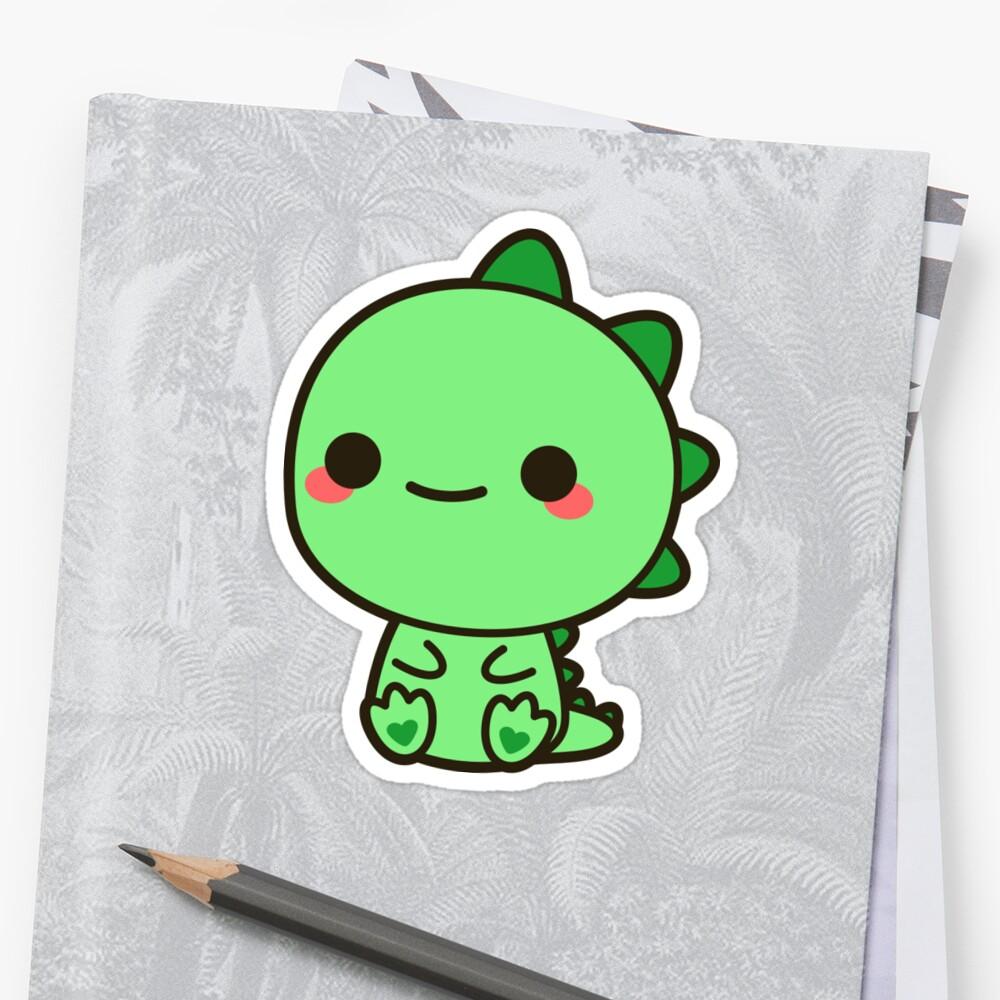 Sticker «Dinosaure de Kawaii»