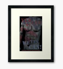 17619 Yes We Can! Framed Print
