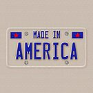 Made In America Car Licence Plate by CroDesign