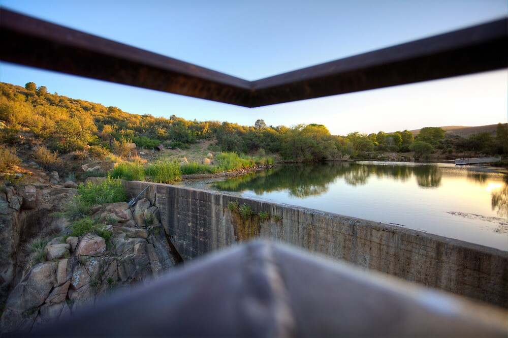 Dam Obstructed View by Bob Larson