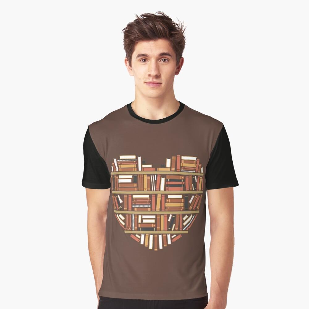 Camiseta gráficaI Heart Books Delante