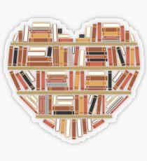 Pegatina transparente I Heart Books