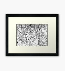 Diurnal Animals of the Forest Framed Print