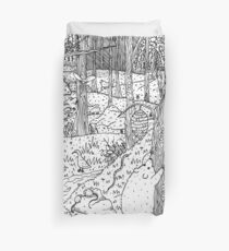 Diurnal Animals of the Forest Duvet Cover