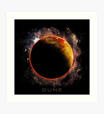 DUNE the spice must flow Art Print