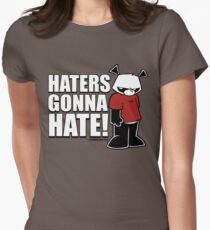 Pissed OFF Panda Haters Gonna Hate Women's Fitted T-Shirt