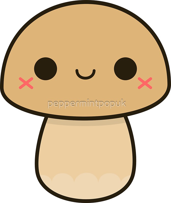 Quot Kawaii Mushroom Quot Stickers By Peppermintpopuk Redbubble
