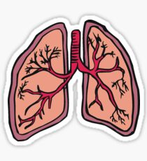 Funny cartoon lungs - Respiratory system Sticker