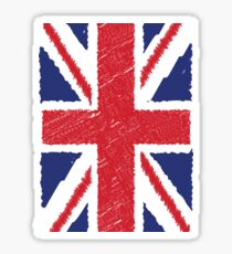 UK Union Jack Scribble Abstract Flag Background Sticker