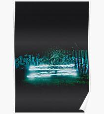 'Lighting the Fireflies' LOMO Photo, Montrose, Victoria, Grunge, Graffiti, Double Exposure,  Poster