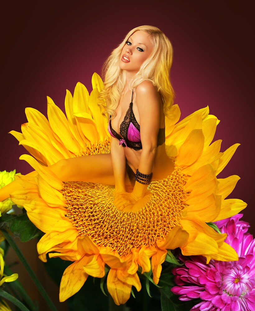 Courtney on a Sunflower by Swede