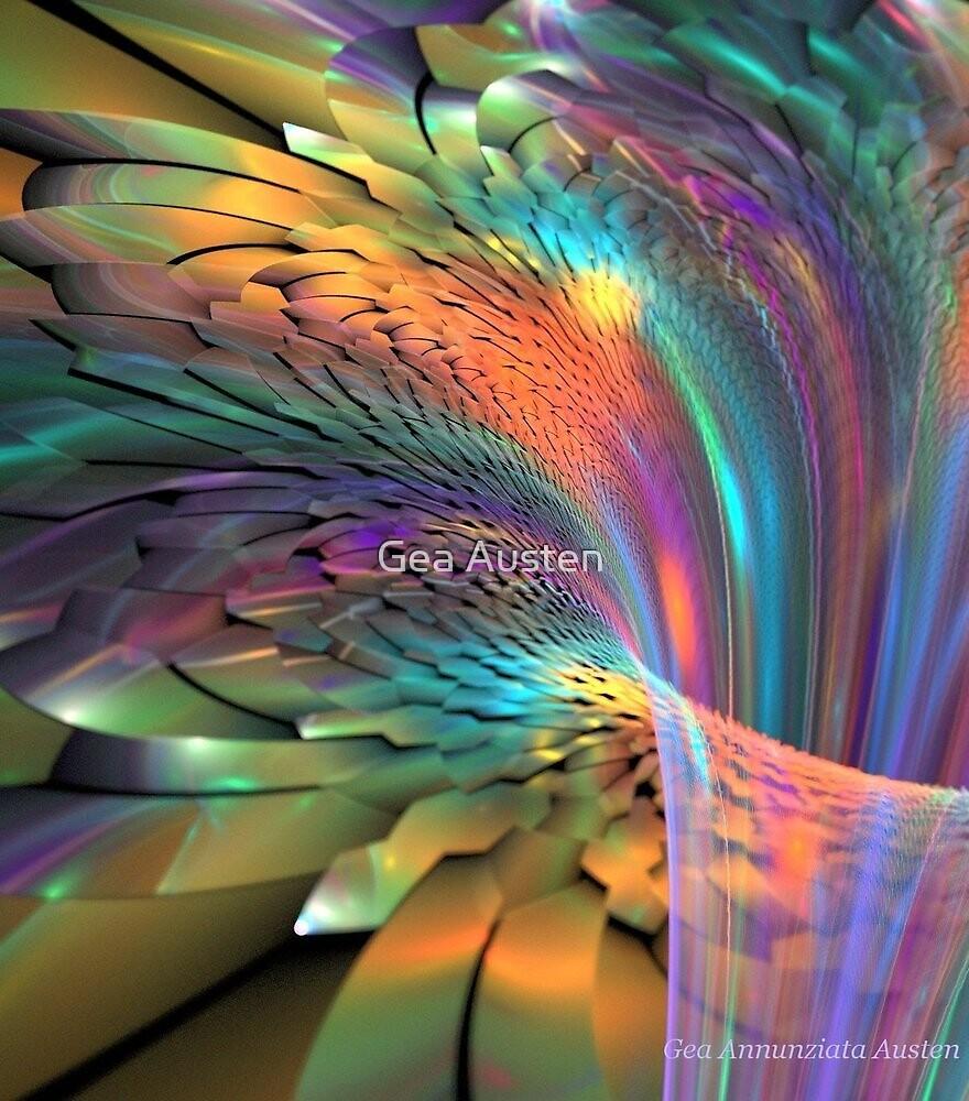 FRACTAL FLOWER MACRO 2 by Gea Austen