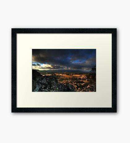 Hanging Rock HDR #1 Framed Print