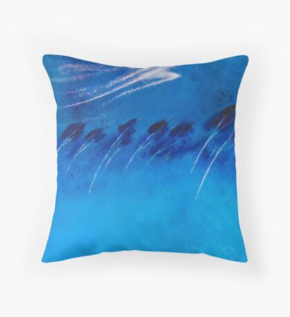 BOREAS - THE NORTH WIND Throw Pillow