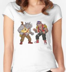 Bebop Rocksteady - Funny big print Women's Fitted Scoop T-Shirt