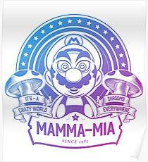 Super Mario Ate One Spicy Mushroom Poster