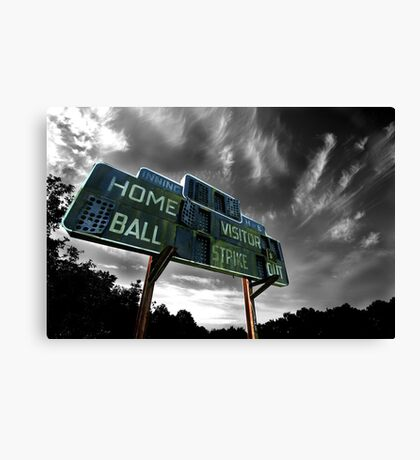 Old Baseball Scoreboard - The Diamond- Greenham Canvas Print