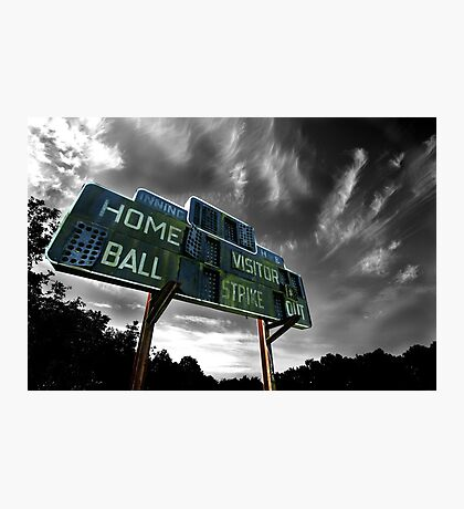 Old Baseball Scoreboard - The Diamond- Greenham Photographic Print
