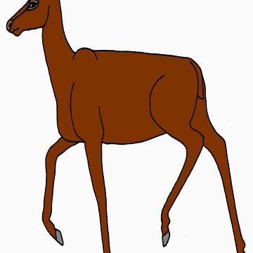Red deer hind by etchingz