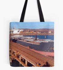 Pilbara Red & Blue Tote Bag