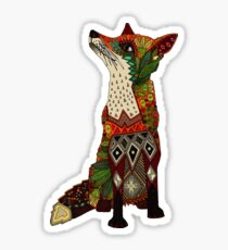 floral fox Sticker