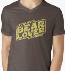 Scruffy Looking Bear Lover Men's V-Neck T-Shirt