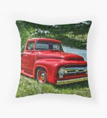 1956 Ford F100 Pickup Truck Throw Pillow
