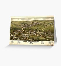 Panoramic Maps Calumet Hecla  Red Jacket Mich  1881 Greeting Card