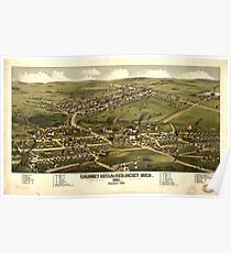 Panoramic Maps Calumet Hecla  Red Jacket Mich  1881 Poster