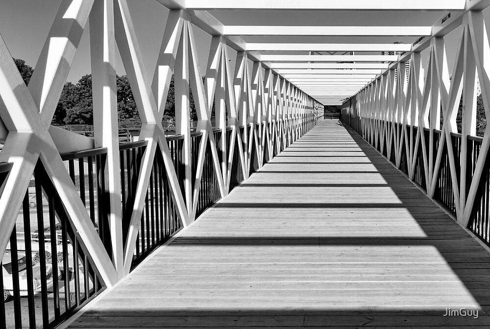 Pedestrian Bridge by JimGuy