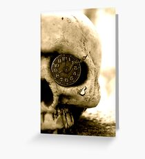 Clockwork Skull Greeting Card