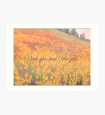 Wildflower Mural Art Print