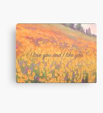 Wildflower Mural Canvas Print