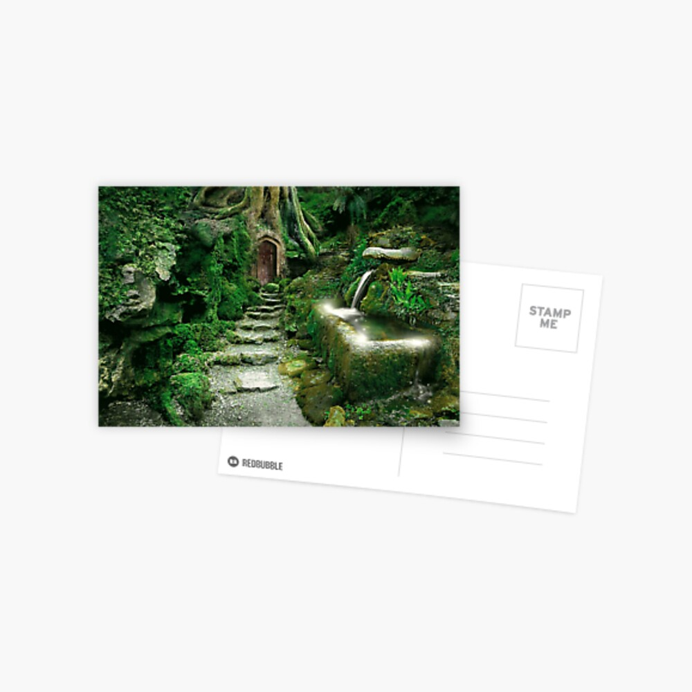 Eingang zu Rivendell (überarbeitet) Postkarte