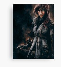 Lightning from Final Fantasy 13 Painting Canvas Print