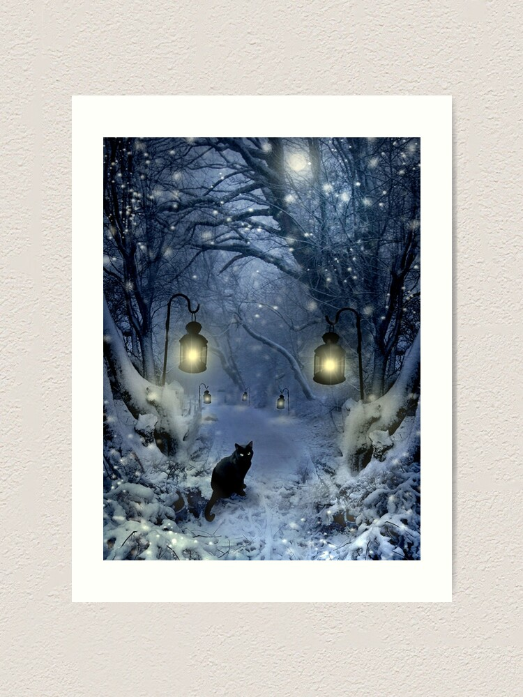 Alternate view of Winter Twilight  Art Print