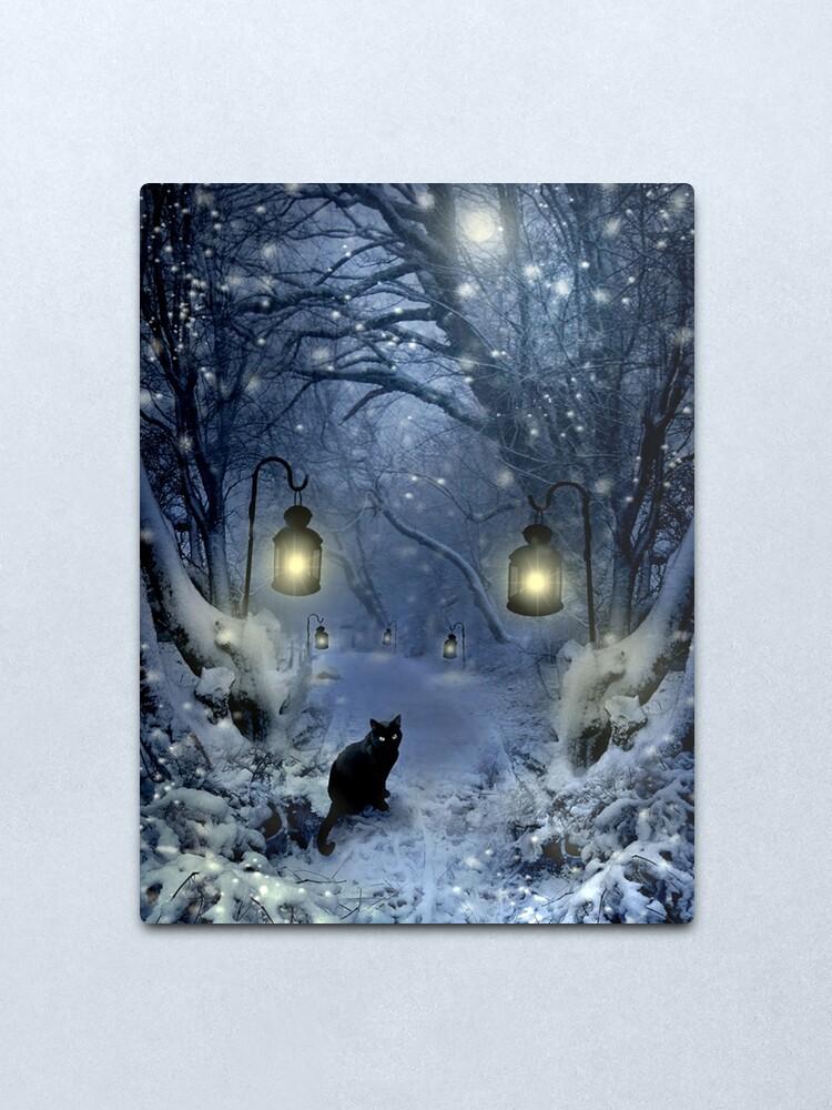 Alternate view of Winter Twilight  Metal Print