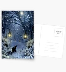 Winter Twilight  Postcards