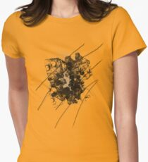 Cool Rusty Grunge Vintage Scratches  Womens Fitted T-Shirt