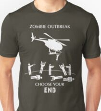 "Zombie Outbreak - ""Choose Your End"" Unisex T-Shirt"