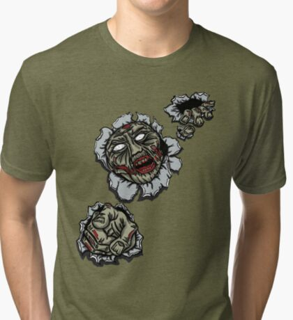 Zombie Escape Tri-blend T-Shirt