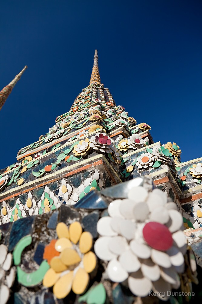 Decorated Stupa, Wat Pho by Kerry Dunstone