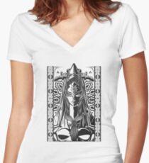 Legend of Zelda Midna Twilight Princess Geek Line Artly  Women's Fitted V-Neck T-Shirt