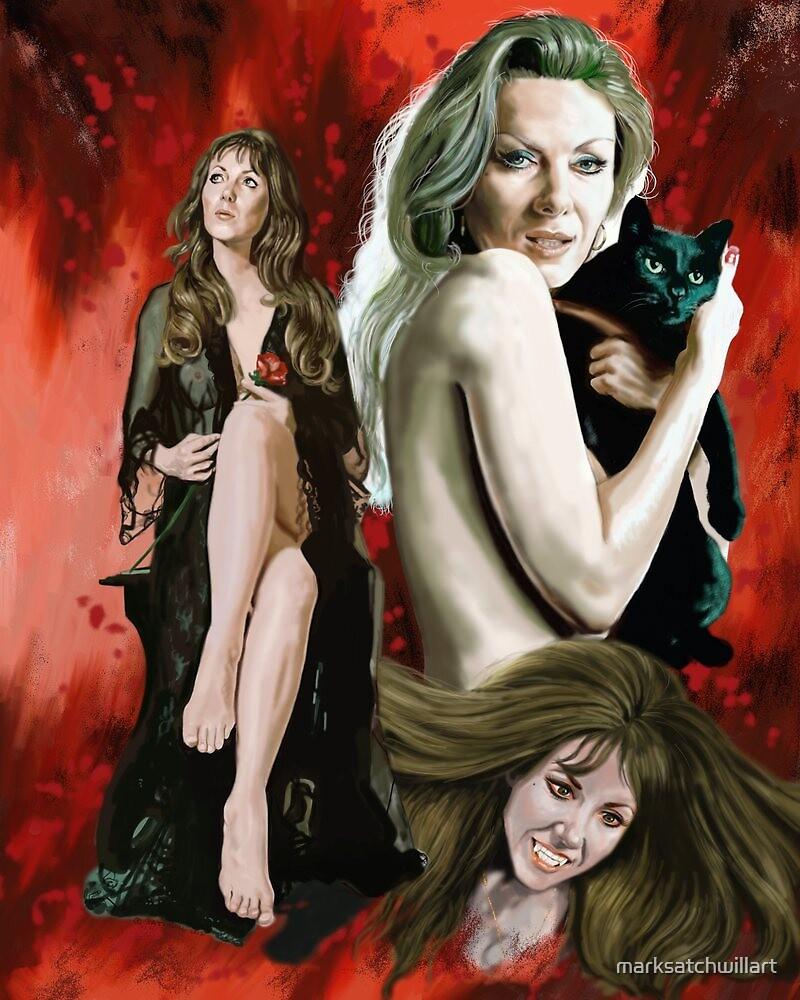 Ingrid Pitt by marksatchwillart