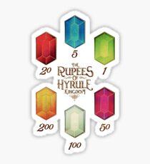 Legend of Zelda The Rupees Geek Line Artly Sticker