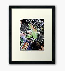 Green Finger Framed Print