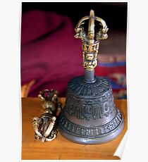 Bell and Vajra Pisang Monastery Poster